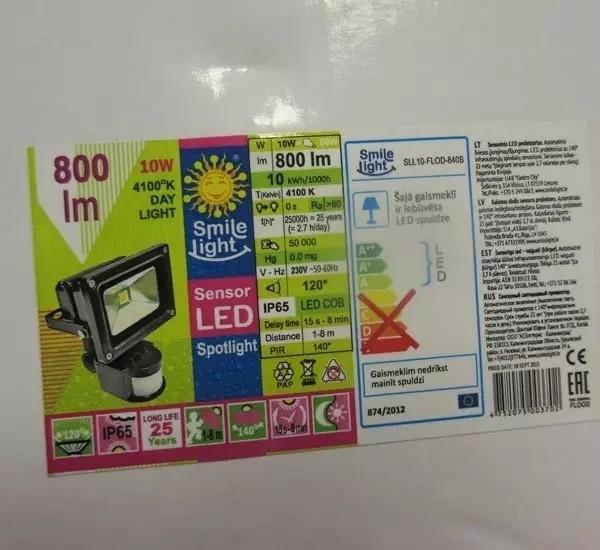 二款国产LED泛光灯因质量问题被欧盟召回