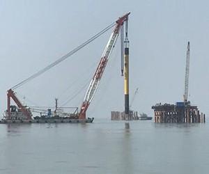 国内首个大功率海上风电试验风场进入主体施工阶段