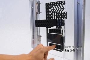 3D打印的超酷炫密码锁!输入密码就能开门