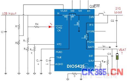 集成化的智能手机锂电池充电管理解决方案