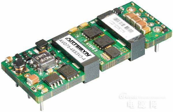 雅特生科技推出适用于电信设备的全新75W高电流直流/直流电源转换器
