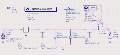 该倍频器结构比较简单,但由于频率较高,悬置微带的尺寸及腔体尺寸都