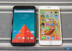 超大屏之争 图说:Nexus 6对比iPhone 6 Plus