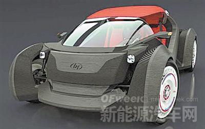 首款3D打印电动汽车亮相 40个零部件电池续航243公里