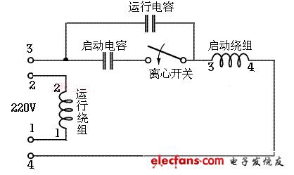 详解单相电机电容接线图-中国传动网