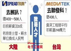 芯战-薪战 大陆政府力挺中国芯片企业挖角台湾对手