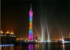 """广州塔将挂LED户外广告 """"小蛮腰""""设置商业广告引热议"""