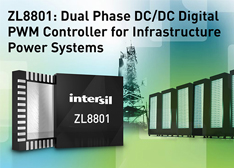 Intersil推出ZL8801双相直流/直流数字PWM控制器
