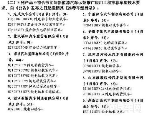 东风/吉利/奇瑞等20家车企64款新能源产品被清除出目录