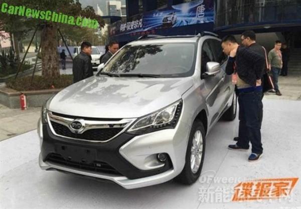 """比亚迪S3实车街头曝光 命名为""""元""""第四季度上市"""