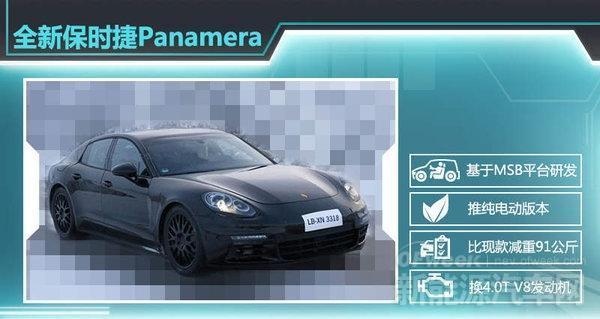保时捷Panamera纯电动版续航媲美特斯拉