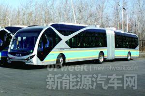"""北京公交车:惊现18米新型纯电动""""电鲶鱼"""""""