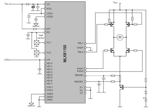 MLX81150 全桥驱动原理图