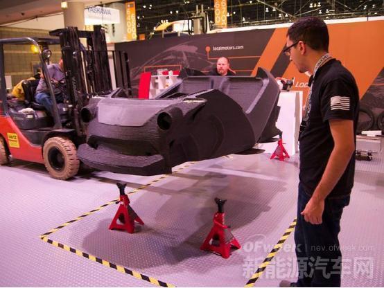 首台3D打印电动车Strati横空出世