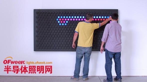 亮瞎眼的LED照明装饰墙来了!绝对有你意想不到的功能