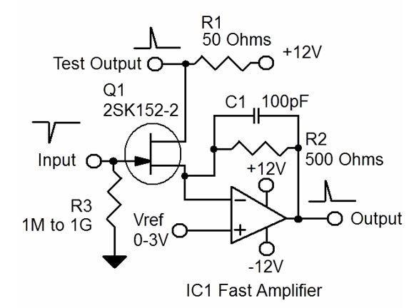 具有稳定温度特性的快速低噪声JFET放大器