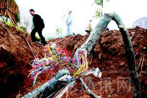郑州地铁施工挖断电缆  致大面积断网