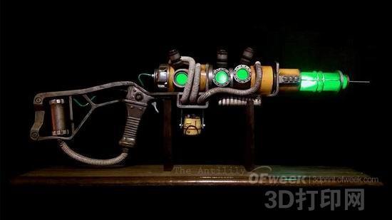 3D打印?国外玩家打造《辐射4》镭射步枪