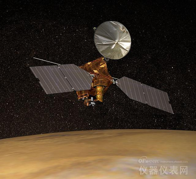 NASA探测器拍到正在发生中的火星雪崩