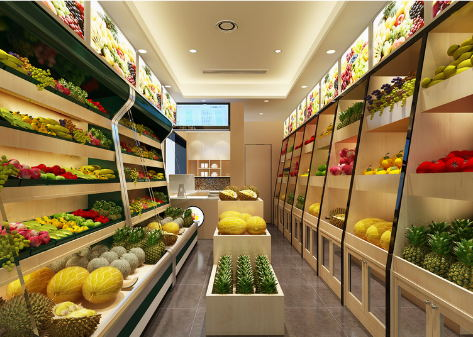 百货小超市摆设设计图