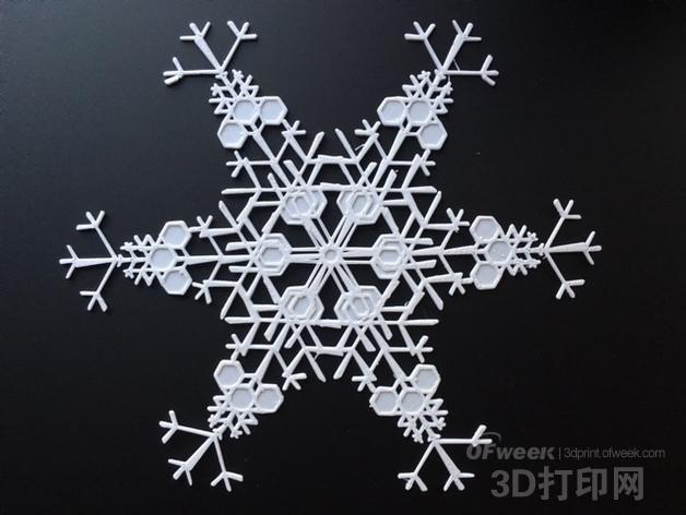3D打印造10亿多雪花模型供你选择!