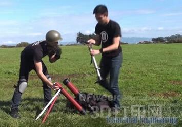 3D打印GoPro相机炮弹捕获高空飞行的美妙风光