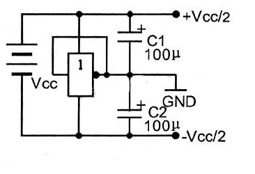 单电源供电回路中获得正负电源的电路