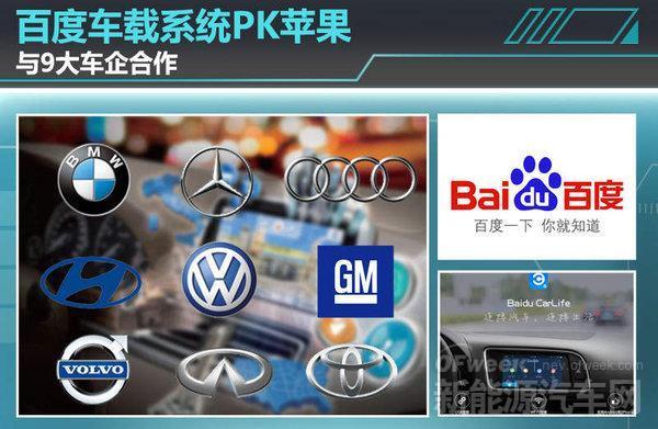 """百度与奔驰/宝马等9大车企合作 车载系统抗衡苹果""""CarPlay"""""""