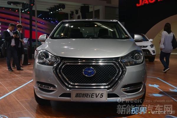 江淮明年计划完成1万辆新能源汽车销售目标