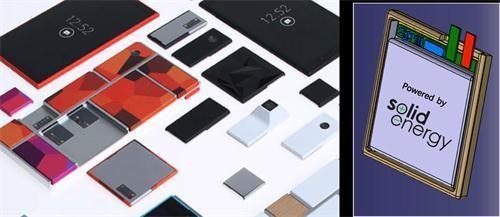 """谷歌模块手机或使用""""无负极""""电池!"""