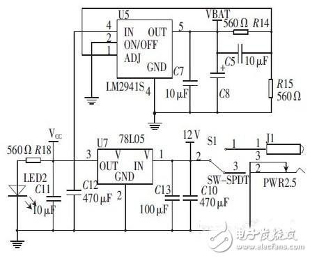 2 v 的电压,  ds18b20连接电路图如图5 所示.