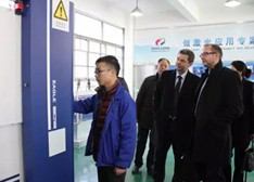 通快(中国)乐安德和楚天集团孙文考察温州激光与光电产业