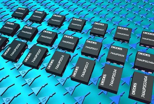 Diodes八引脚微型逻辑器件延长电池寿命