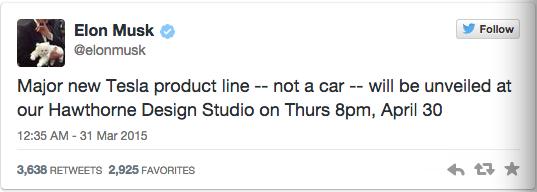 特斯拉全新产品线将出 疑是电池