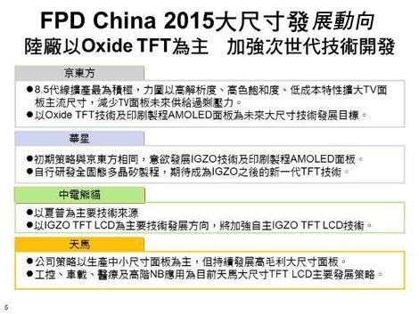 京东方、华星光电、深天马等陆面板厂强化氧化物TFT技术发展