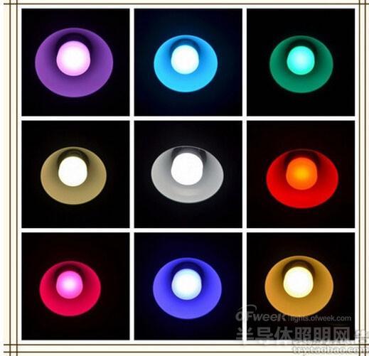 iMagic幻彩   比较完彩光,我们再来对比白光效果。白光的出光效果在很大程度上决定了灯泡的实用性。Yeelight Blue II标称功率6W,iMagic幻彩智能灯泡标称功率6.5W,两家均标称光通量为500lm。至于实际情况,可以参看如下实拍效果图(左为Yeelight Blue II,右为iMagic)。