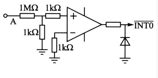 信号经过降压,整形电路