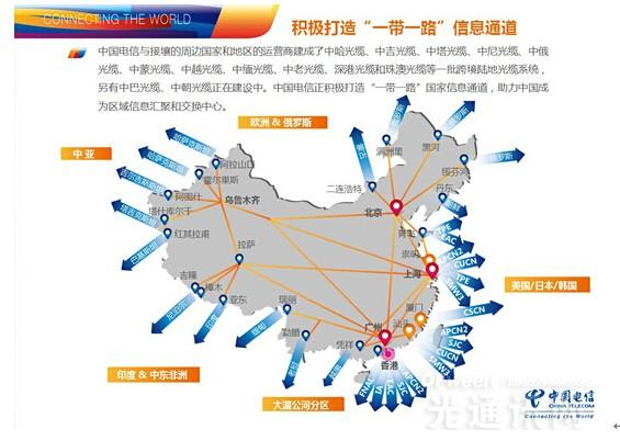 中国电信与亚太运营商启动新跨太平洋国际海底光缆建设