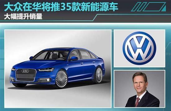 大众:四五年内将在中国推35款新能源车 销售量大增
