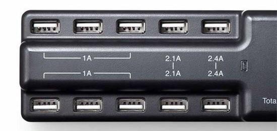 同时接10个设备的USB充电适配器:再也不用担心手机没电了