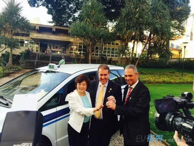 比亚迪:打造巴西首个纯电动出租车示范运营城市