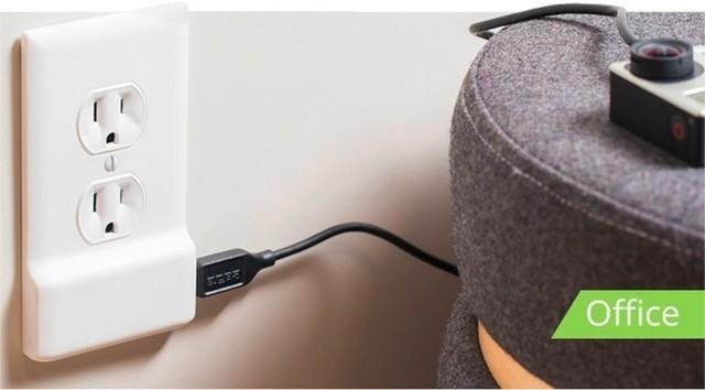 无需布线 USB可直接连接电源插座