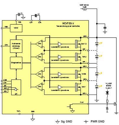 led控制器驱动接线图