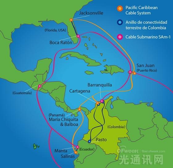 太平洋加勒比海缆系统将于本月投产