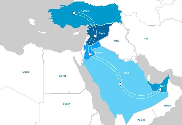 中东陆地光纤网络系统一期投产