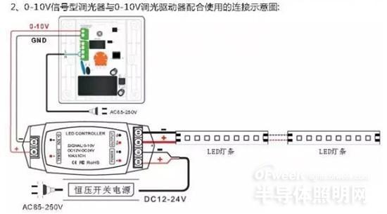 led灯0到10v调光接线图
