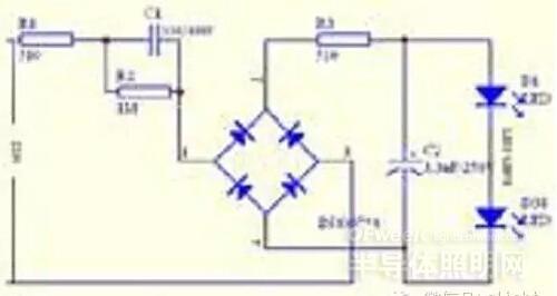 阻容led电源电路