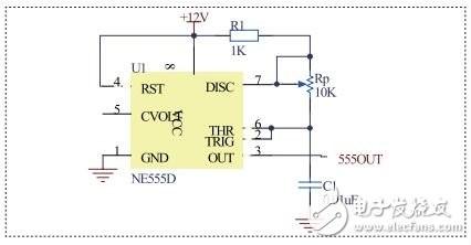 图1 ne555d脉冲发生器模块