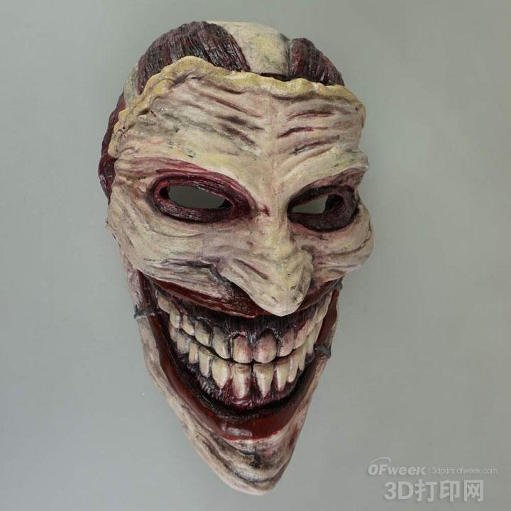 印的血腥恐怖的小丑面具