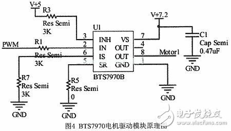 bts7970作为电机驱动模块的主芯片